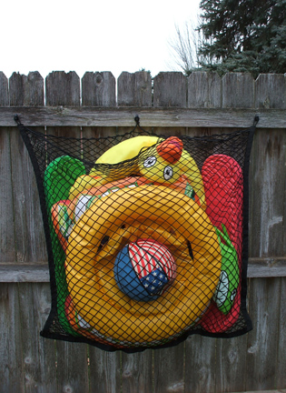 Large Toy Net on Wood F