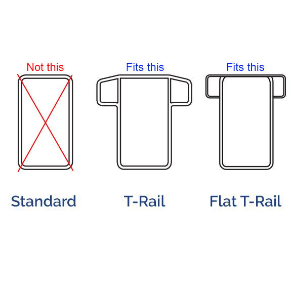 Railing Types MIDE Products T-Rail Hooks Fit