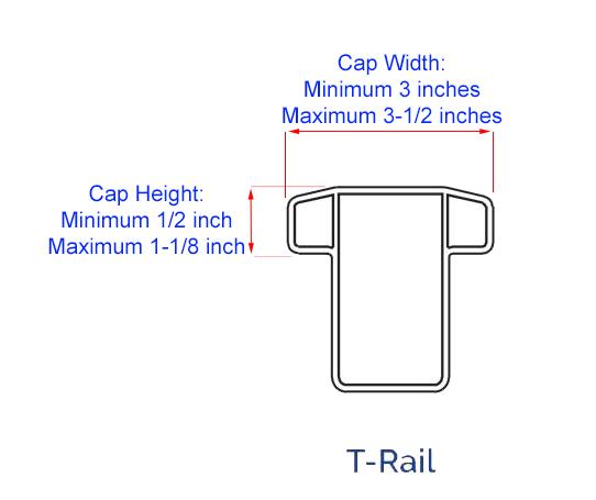 MIDE Hooks T-railing Size Chart