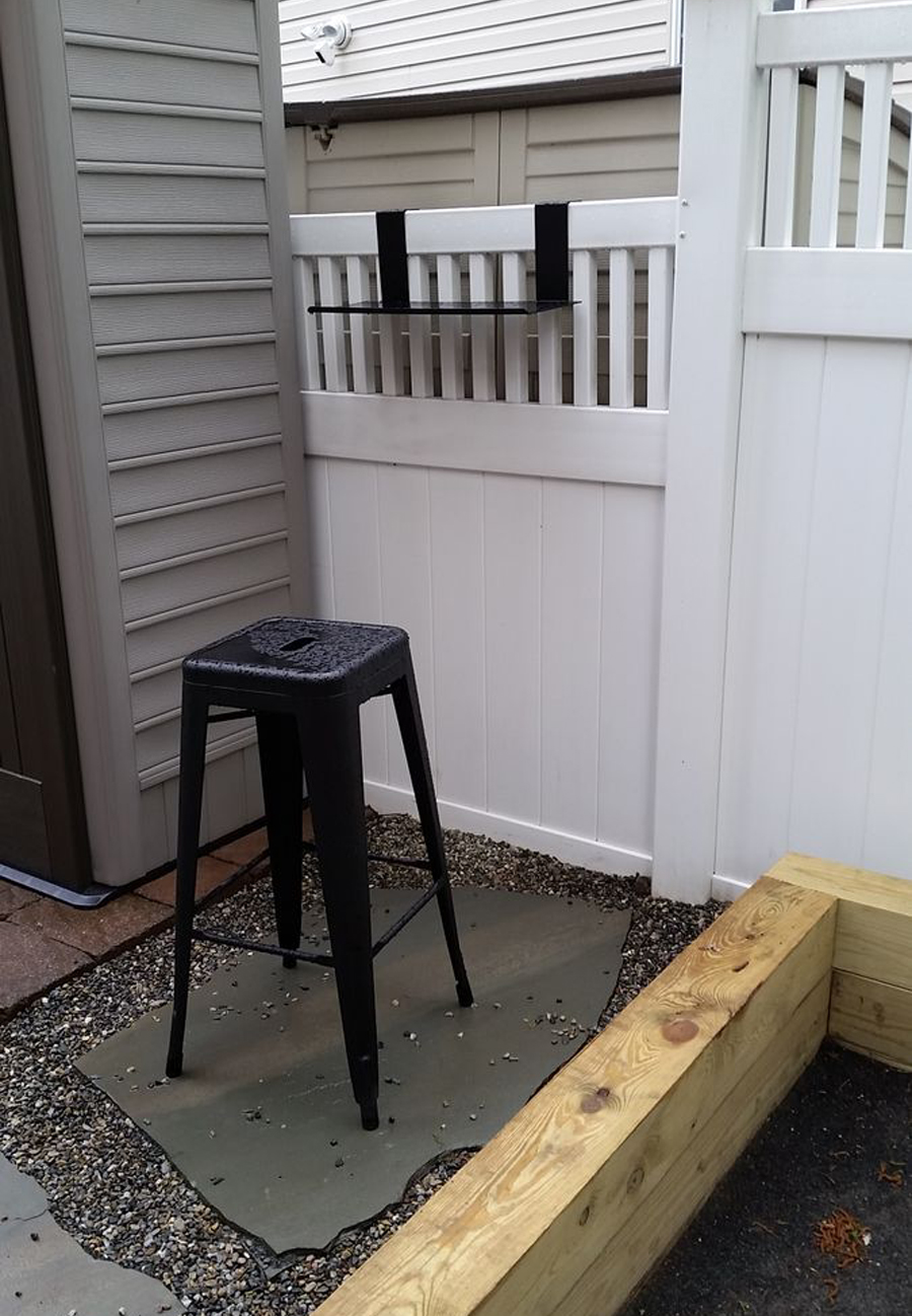 Bocce Court Shelf - Customer Picture