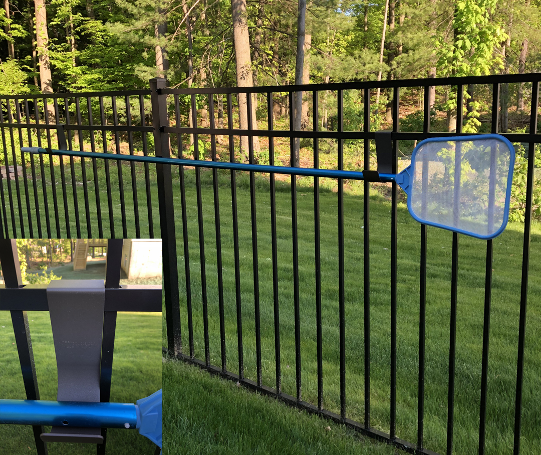 Customer Photo with Close up on Aluminum Fence
