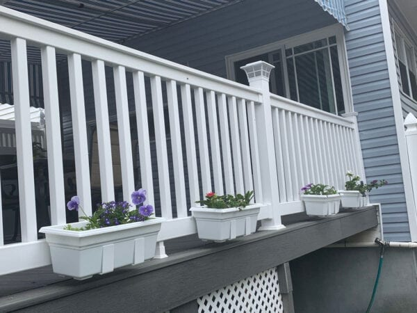 Customer Photo - Flower Boxes on Bottom Deck Rail