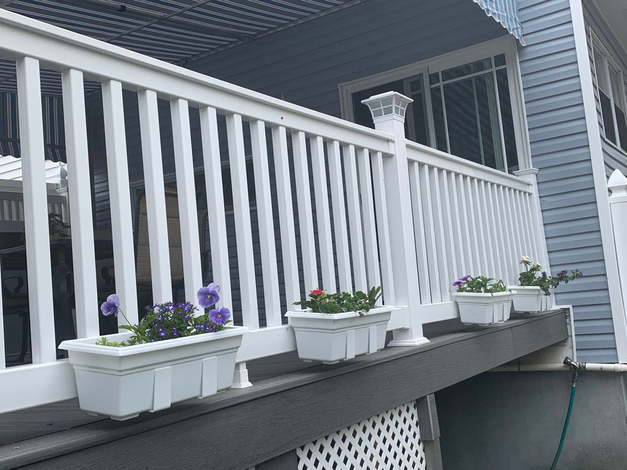 Customer Photo - Flower Boxes on Bottom Deck Rail