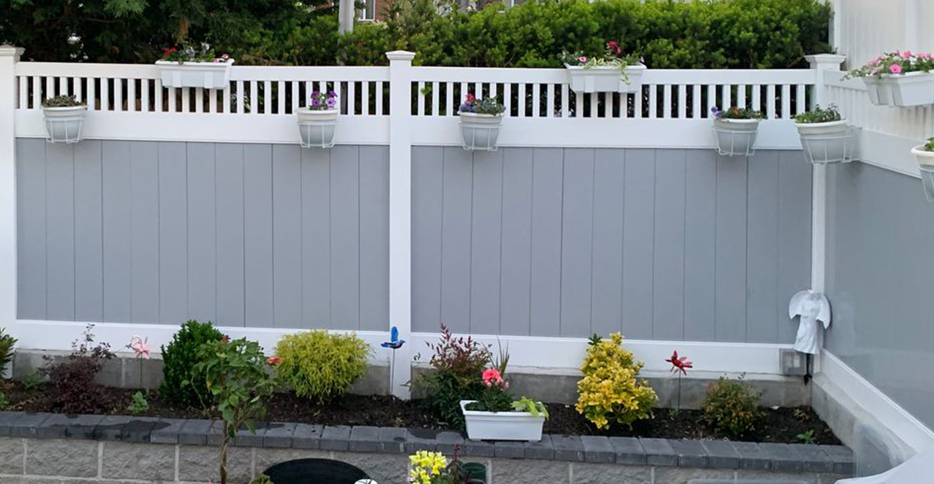 Customer Photo - Flower Boxes on New Fence