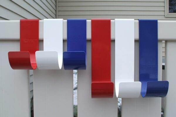 MIDE Patriot Hooks 6 Pack RED/White/Blue
